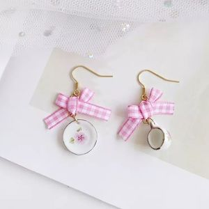 Vintage Tea Set Earrings